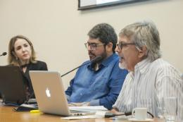 Imagem: A tônica do debate se deu em torno dos desafios contemporâneos do planejamento urbano (Foto: Ribamar Neto/UFC)